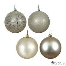 "Vickerman 2.75"" Champagne 4-Finish Ball Christmas Ornament - 20/Box - $30.25"