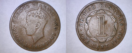 1943 British Honduras 1 Cent World Coin - $19.99