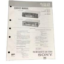 Sony XR-27R/37R ES-R8/R12 Service Manual Cassette Player Radio Car Stereo - $19.99
