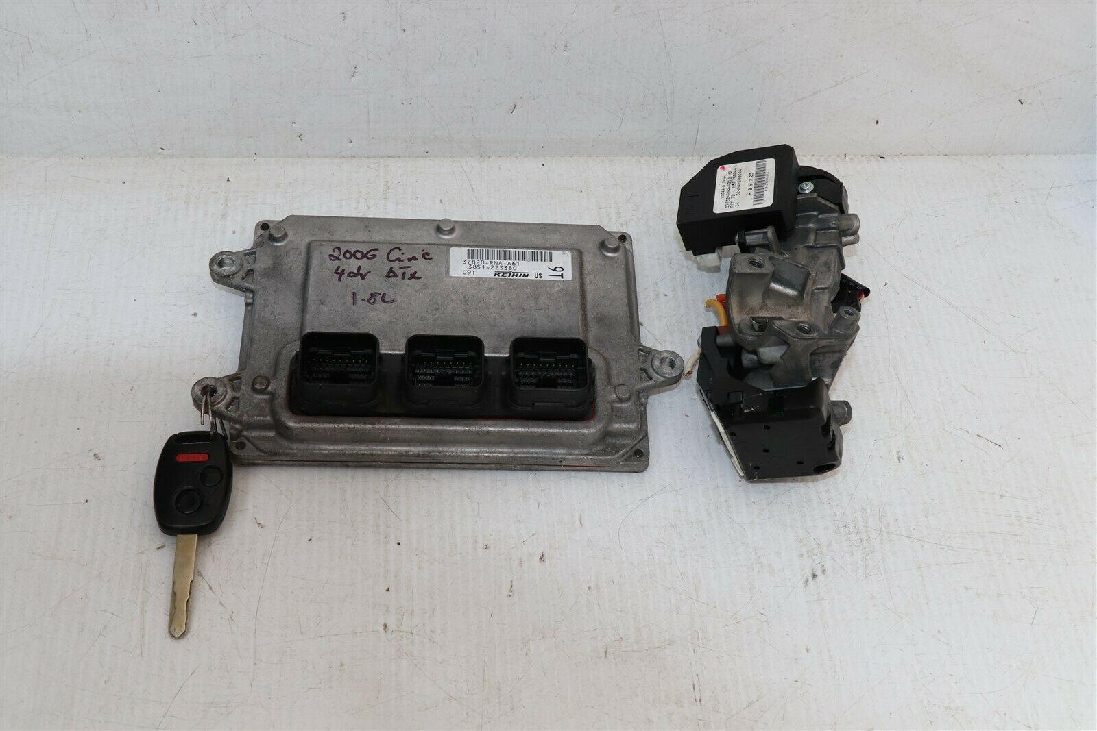 06-08 Honda Civic 1.8 A/T ECU PCM Engine Computer & Immobilizer 37820-RNA-A61