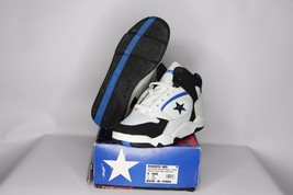Vintage 90s New Converse Youth 6 Shadow Mid Leather Basketball Shoes Whi... - $49.85