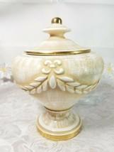 """VINTAGE Porcelain Biscuit Candy Pot Jar Urn Covered Vase 7 3/4"""" Tall x 6 1/4"""""""