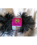 Lion Brand Fun fur yarn 1 skein 50 grams black color (2 available) - $3.22