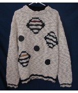 STUDIO UMEN Sweater Vintage 80s RARE Graphic Elbow Patches Pullover Men ... - $64.35