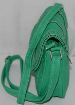 Non Branded Womens Parakeet Green Saddle Bag Purse With Shoulder Strap image 4