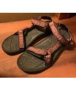 TEVA womens Burgundy/red pink sports sandals 10 - $25.69