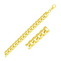 6.7mm 14k Yellow Gold Solid Miami Cuban Bracelet Cute Delicate Jewelry - $1,998.03