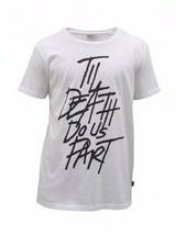 WeSC Mens Joseph Til Death Do Us Part White T-Shirt