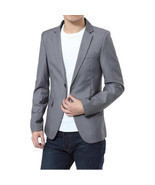 Slim Fit Men Suit Jacket Cotton - £30.81 GBP