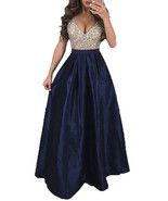 Women's Formal Maxi Dress - Semi Sheer Lace Top / Full Satin Skirt Party... - $23.00