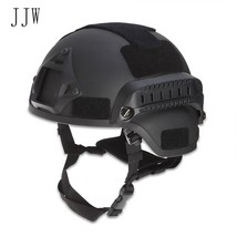 JJW Tactical Military Airsoft Paintball Helmet with Mount Rail - $43.38