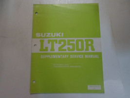 1986 Suzuki LT250R Service Manual Supplement Factory Oem Book 86 Dealership - $79.19
