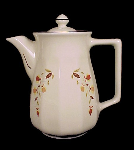 Primary image for Hall Autumn Leaf Bellevue Coffee Pot Jewel T Tea NALCC