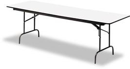 Folding Table Foldable Desk Home Office Furniture Rectangular Wood Lamin... - $184.84