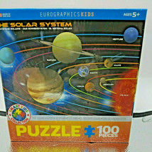 100 pc The Solar System Jigsaw Puzzle Eurographics, Children, Awesome Education - $11.29