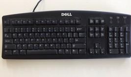 DELL PS/2 US 104-Key PC Windows Desktop Keyboard Black Wired SK-8110 07N... - $18.00