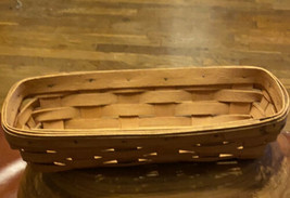 """Longaberger Basket Hand Made Ohio USA 1991 size 11"""" X 5"""" X 3"""" - $19.57"""