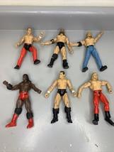 WWF WWE Jakks Pacific Lot Of 6 Titan Tron Live Wrestling Figures 1999 - $19.62