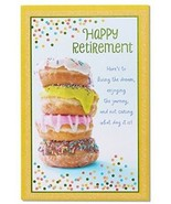 American Greetings Doughnuts Retirement Congratulations Card With Glitter - $13.47