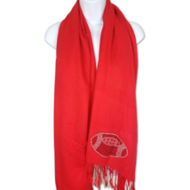Lyn Dorf Scarf Kansas City Football Red Rhinestone Wrap Pashmina on Red ... - $12.19