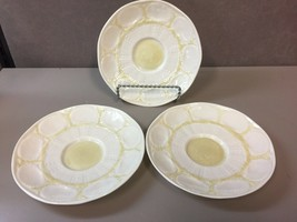 Lot of 3 Saucers in New Shell Yellow by Belleek Pottery (Ireland) - $57.00