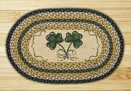 "Earth Rugs Shamrock Design Rug, 20"" x 30"", Black/Mustard/Crème"