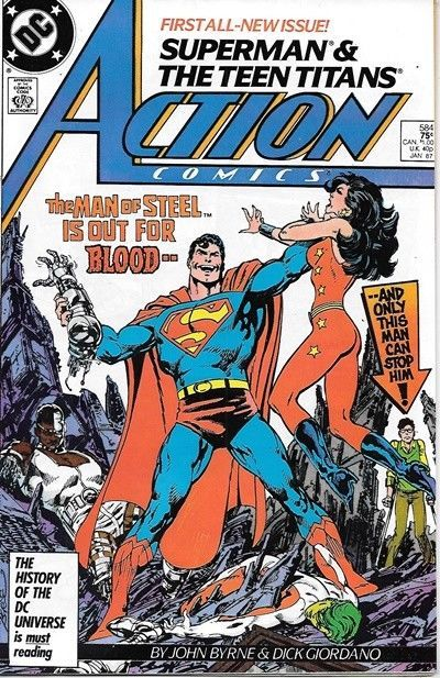 Primary image for Action Comics Comic Book #584 DC Comics 1987 VERY FINE+ UNREAD