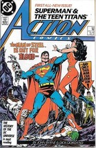 Action Comics Comic Book #584 DC Comics 1987 VERY FINE+ UNREAD - $4.50