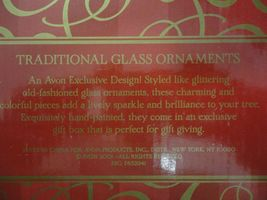 Avon Exclusive Design Traditional Glass Christmas Ornaments image 10