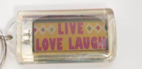 Ganz Solar Powered Flashing Live Love Laugh Key Chain Hearts