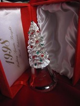 1998 Silver Plated Christmas Tree Bell 3rd EDITION by MADISON AVENUE - $7.66