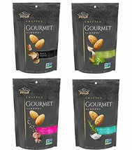 Blue Diamond Gourmet Almonds, Variety Pack of 4 5 Ounce Each - $32.09