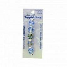 4x FOUR Packs Monet's Garden Glass Craft Bead 20 beads total Jewelry Han... - $10.24