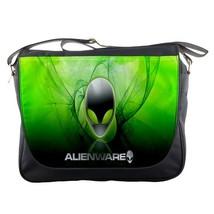 Messenger Bag Alienware Logo With Green Head Smoke Design For Video Gam... - $30.00