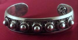 Heavy Rocker Biker Silver Cuff Bracelet for Women by Star Knights.  Handmade  3D - $95.00