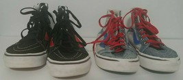 2 Pair Vans Kids Size 1 High Top Pro Skateboarding Shoes Item Number 721454 - $29.69