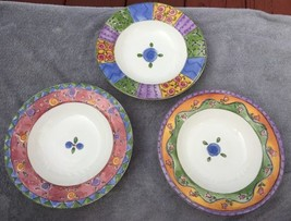 Sweet Shoppe Sango Sue Zipkin 3 Rimmed Soup Bowls 3023, 3024, 3025 EUC - $19.95