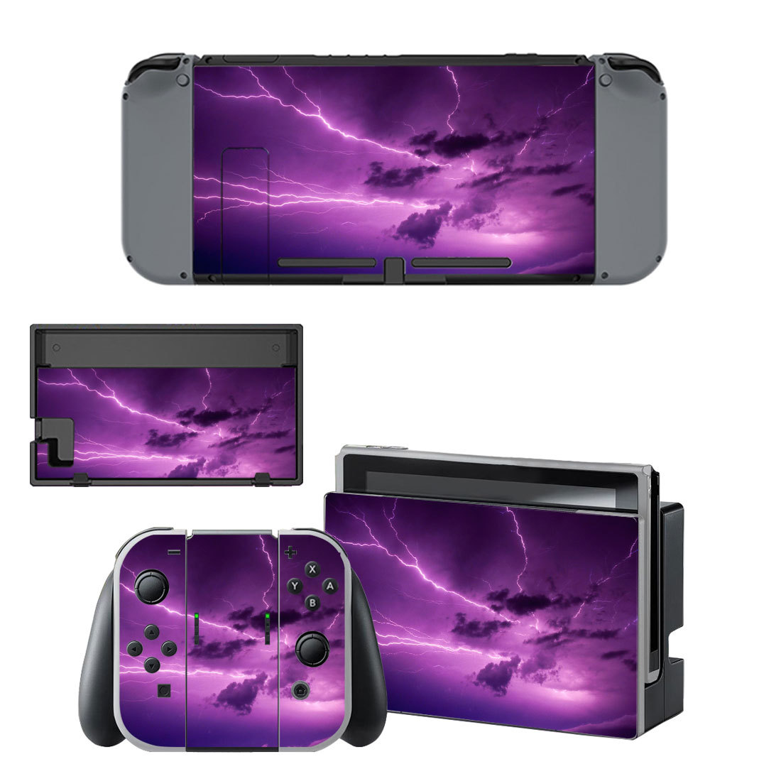 Lightning cloudy sky decal for Nintendo switch console sticker skin