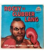 Rocky vs Clubber Lang 7' Vinyl Record / Book, Kid Stuff KSR 590, 1984 - $38.95