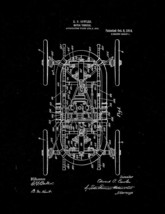 Motor Vehicle Patent Print - Black Matte - $7.95+