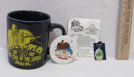 Paul Bunyan Collectible 50 Yr Coffee Mug Event Schedule Pin & Charm Lot ... - $12.86