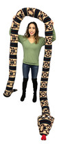 American Made 18 Foot Giant Stuffed Snake 216 Inches Long, Soft Tan Green Rectan - $149.99