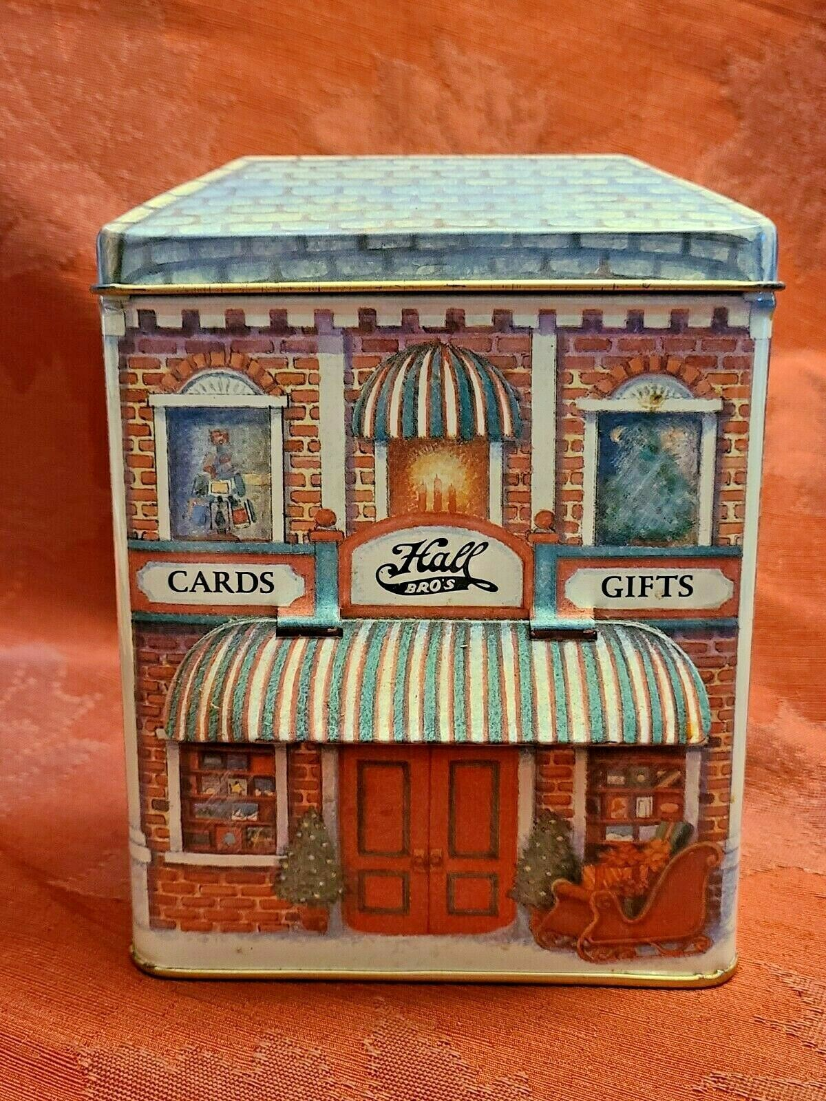 Hallmark Nostalgic Houses Hall Bro's Cards and Gifts Tin shop cards collection