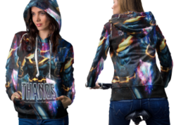Thanos and infinity gauntlet hoodie women thumb200