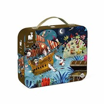 Janod 36 Piece Pirate Ship Treasure Hunt Puzzle Toy – Mini Suitcase Styled Box f image 3