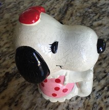 """Vintage 1958 Peanuts Ceramica Salvadanaio SNOOPY'S Sister """" Belle con Stopper - $11.96"""