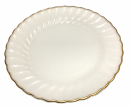 "Anchor Hocking Fire King White Swirl Golden Anniversary 10"" Platter Plat... - $29.70"