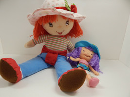 "Lot Of 2 Strawberry Shortcake & Friend Dolls Tall 18"" & Small 10"" Berry Soft - $14.84"