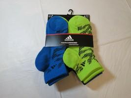 Adidas Jugend Gepolstert Climalite Fleck Wasserfest Socken Quartal 6 Paa... - $21.30
