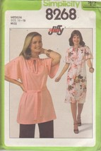.SIMPLICITY PATTERN 8268 SIZE MEDIUM 14/16 MISSES PULLOVER DRESS OR TUNIC - $3.90